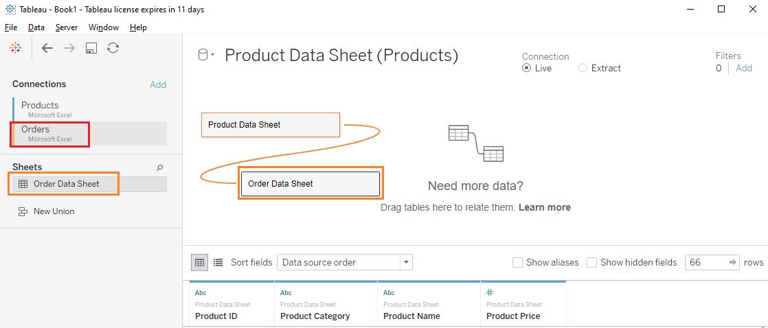 Join related data sources Step 2